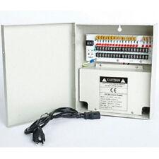 18 Port CH DVR Power Supply Box DC 12V 20A For Security CCTV Camera LED Strip