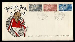 DR WHO 1958 INDONESIA FDC TOUR DE JAVA  C244450