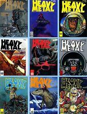 HEAVY METAL MAGAZINE 1977 1st 9 Issues VG Moebius Corben Bode *ShipFree w$35 Com