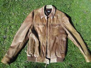 Lee Tan Leather Jacket Large