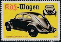 Artist Stamp Replica Label Germany 178 WWII VW KDF MNH