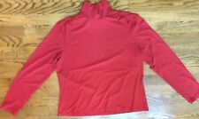 Talbots Ladies Long Sleeve Dark Orange Rayon / Spandex Turtleneck Shirt - XL