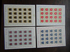 More details for liechtenstein 1965 arms 2nd issue in complete sheets of 20 mnh
