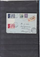 FRANCE LETTRE RECOMMANDEE CENSUREE 1942 avec n°565/66 pour allemagne