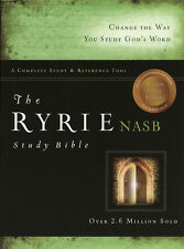 Ryrie NAS Study Bible Bonded Leather Black, Red Letter