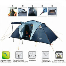 KingCamp Family Camping Tent 2+1 Room 4 Person 3 Season Waterproof Portable