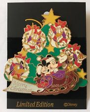 Disney M&P Merry Christmas 2003 Mickey & Friends Slider/Sparkle Pin LE 1200