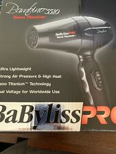 NEW BABYLISS PRO NANO TITANIUM BLACK DUAL VOLTAGE BAMBINO TRAVEL HAIR DRYER