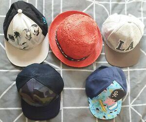 Boys Summer Hats Cups Bundle 2-6 Years