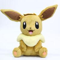 "30CM 12"" Pokemon Sitting Eevee Plush Toy Soft Doll Animal Stuffed Plush Doll"