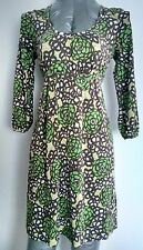 BODEN Silk blend casual tunic dress size 8 floral print 3/4 sleeves