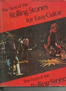 BEST OF THE ROLLING STONES FOR EASY GUITAR 1975 PAPERBACK GOOD CONDITION