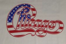 Chicago No. American Tour 1996 US Flag Logo XL White T-shirt