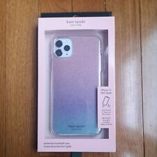 Kate Spade iPhone 11 Pro Max Glitter Ombre Hard Case Pink Purple Blue NEW