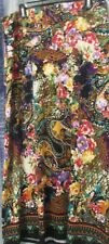 Beige by ECI Size XL Multi-color Floral Print Knit Long Skirt Polyester Blend