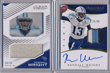 KENDALL WRIGHT 2016 Lot 2x - 3 Color Immaculate Patch AUTO /99 & Clear Vision GU
