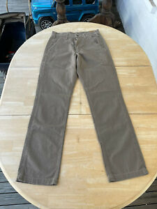 Carhartt B299 MUS Relaxed Fit Mens 30x34 Brown Canvas Flat Front Pants New