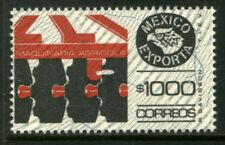 MEXICO Exporta 1501 $1000P Farm Machinery Wmk Granite Paper 9 MNH