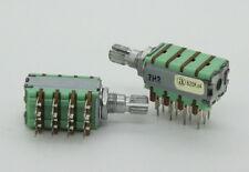 2 x Alpha 12mm 4-Gang B20K 20K Linear Potentiometer 15mm Knurled Shaft PC Mount