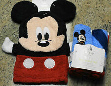 New Disney Store Baby MICKEY MOUSE Bath Mitt & Set of 4 Washcloths
