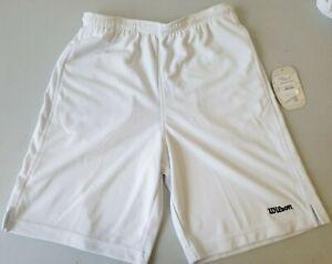 Wilson Boys Tennis Shorts White Knit WRA221500 Boys M L XLB