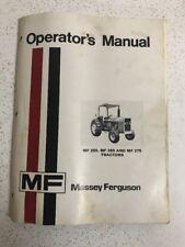 Used Vintage Massey Fergusson MF-255, MF 265, MF275 Tractor Operator's Manual