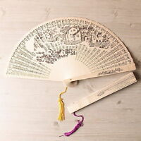 Bamboo Oriental Painting Pocket Hand Folding Fan Gift Luxurious Type Light noo