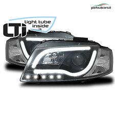 Fari anteriori per Audi A3 8P (2003-2008) coppia fanali luci Light Tube Inside