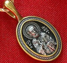 ORTHODOX RUSSIAN PENDANT-ST.NICHOLAS WONDERWORKER ,SILVER 925+999 GOLD. MEDAL