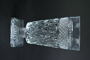 Imperial Clear Glass Cape Cod Footed Tumbler Water Glass Square Base Kitchen Bar