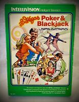 LAS VEGAS POKER & BLACKJACK - 1979 Mattel Intellivision - Complete Video Game