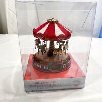 Mr. Christmas Holiday Musical Windup Animated Carousel