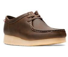 Clarks 26060499 Women's Padmora Brown Smooth Leather Wallabee Style Oxford Shoes