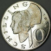 1964 Austria 10 Shillings Gem Proof Silver Coin