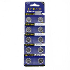 10PCS Button Coin Cell Pack Alkaline Batteries AG13 LR44 SR44 L1154 357 A76