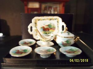 "REUTTER PORCELLAN ""DINNER SET FOR TWO"" DUCK PATTERN"