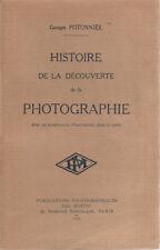 """Georges Potonniée - """"Histoire de la découverte de la Photographie"""" - 1925"""