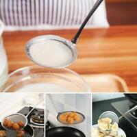 Stainless Steel Colander Filter Oil Spoon Mesh Colander Cooking Utensils Ki W5T9