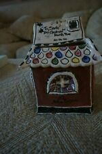 Blue Sky Clayworks Post Office Cottage Heather Goldminc Tealight Candle House