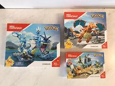 Mega Construx Pokemon Lot - Gyarados Charizard Squirtle/Charmander