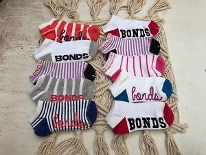 10 PACK, NEW Bonds Kids Fashion Trainer Socks, Mix and Fun, Size 13-3, 8-10 yrs
