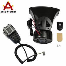 100W 12V Car Alarm Police Fire Horn Siren PA Speaker MIC System 7 Sound Loud New