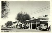 Palm Springs CA Street Scene Drug Store Cars Real Photo Postcard