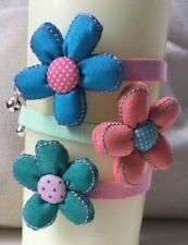 Large Flower Cat Collar with Bell and Safety Buckle