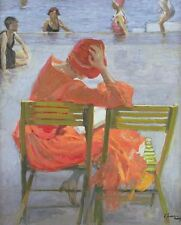 Girl In A Red Dress by Sir John Lavery Artwork by Selby Prints