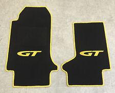 Autoteppich Fußmatten für Opel GT Cabrio schwarz gelb ab 2007' Neuware 2teilig