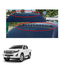 LED Front Roof Spoiler Cover Black 1 Pc Fit Isuzu D-max Holden Rodeo 2016 - 2017