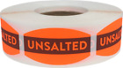 Unsalted Grocery Market Stickers, 0.75 x 1.375 Inches, 500 Labels on a Roll