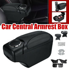 Universal Car Central Console Armrest Storage Box Adjustable Height Arm Rest