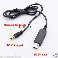 USB 5V to 12V DC Jack Step up Boost Module cable for WIFI Router Modem Arduino